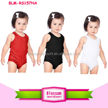 Wholesale children tank top romper infant clothing dropship pajamas jumpsuit toddler girl clothes sleeveless romper boutique