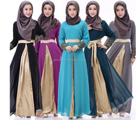 Larest design robe for abaya women islamic arabic dubai long grown wholesale 2016