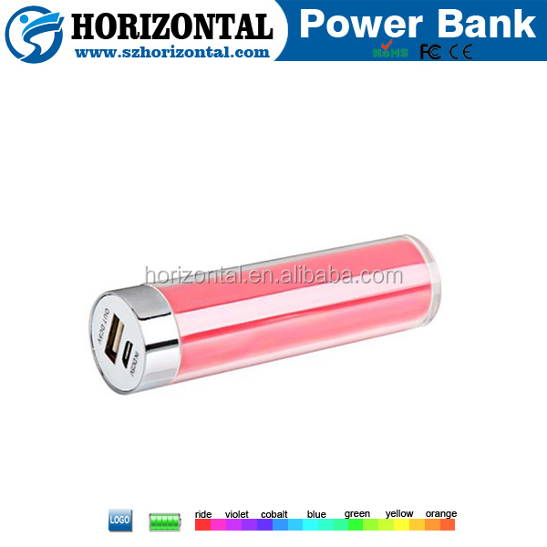 lipstick tube spice mobile battery ,2600mah power bank mini ,18650 power bank