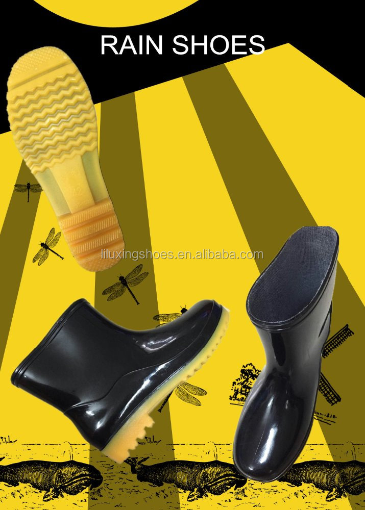 cheap pvc rain shoes safty rain shoes rain boots man rain shoes