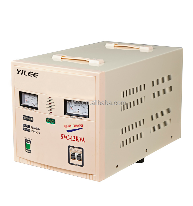 SVC ac CE ROHS approved full power high accuracy electrical style single phase 10000w voltage stabilizer