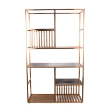 Bookcases living room decorated <strong>shelves</strong> modern style rose golden bookshelf furniture bookcase wall <strong>shelves</strong> Display <strong>shelf</strong> metal