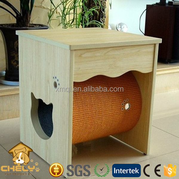 Cheap Wooden Cat Furniture Luxuious Wooden Two Drawers
