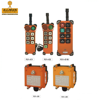 TELECONTROL / TELECRANE Universal Use F21-E1B 6 functions single speed Radio Industrial Remote Control For Crane