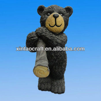 Black Bear Craft Resin Animal Sculpture