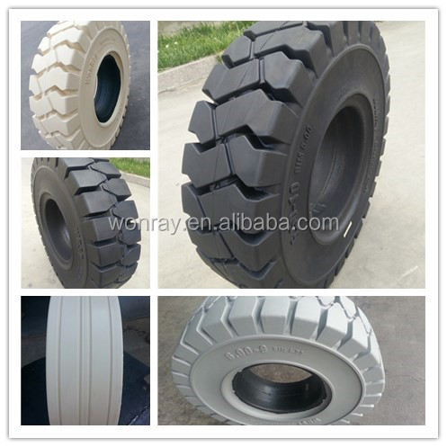 6.00*9 18*7*8 23*9*10 colorful rubber compound tire non-marking forklift solid tire light color with high performance