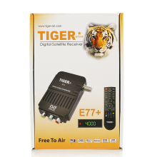 Tiger E77+ Factory Directly Wholesale High Quality Arabic FTA(Free to Air)TV Set Top Box/ Digital Satellite Receiver