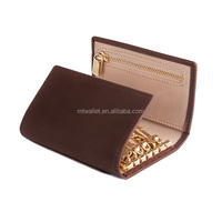 leather smart wall compact key protect case holder wallet