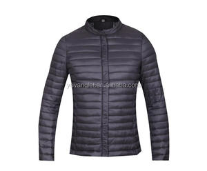 2018 hot sales custom design 100% polyester puffer fit leather jackets for men in multi color