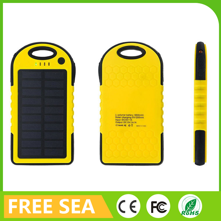 Solar Power Bank External Battery Fast Charging For Smart Phones