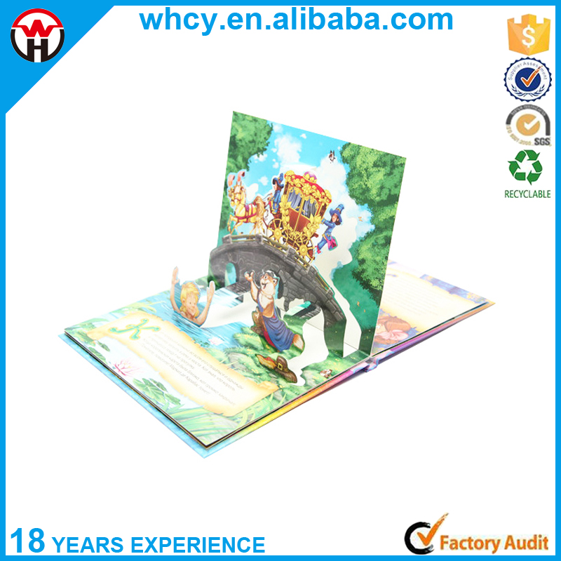 China Factory Custom Printing High Quality Colorful 3D Children Pop Up Book