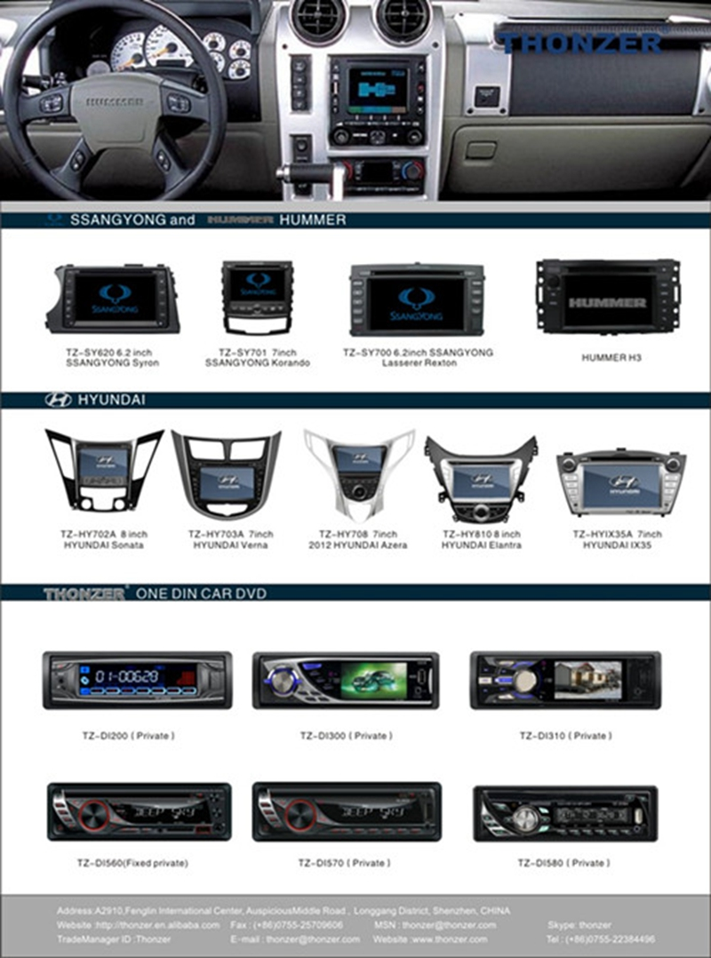 2016 Hyundai Tucson/ IX35 Car DVD Player with GPS Support