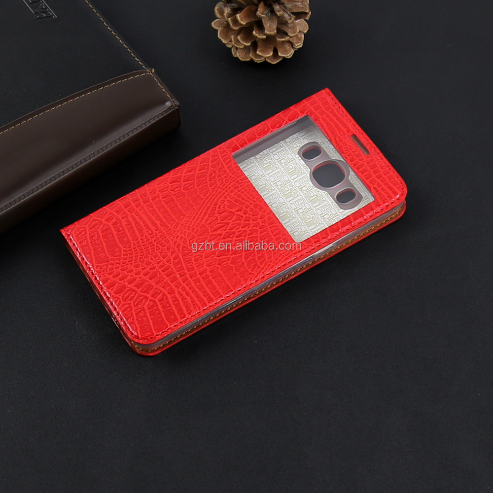 Hot Sell In China Leather Case Window Wallet Card Slot Kickstand Phone Cover For Vodafone smart turbo 7 Leather Case