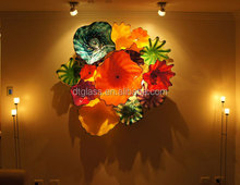 Fantastic Murano Glass flower Plates Wall Hanging light Art for Home Decoration