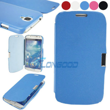 Top Quality Magnetic Back Case Luxury Leather PU Cover Case For Samsung S4 i9500