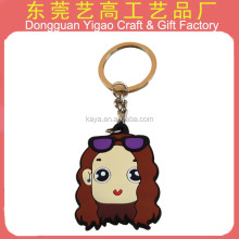Customized 3D Phthalate free soft PVC sexy girl key chain