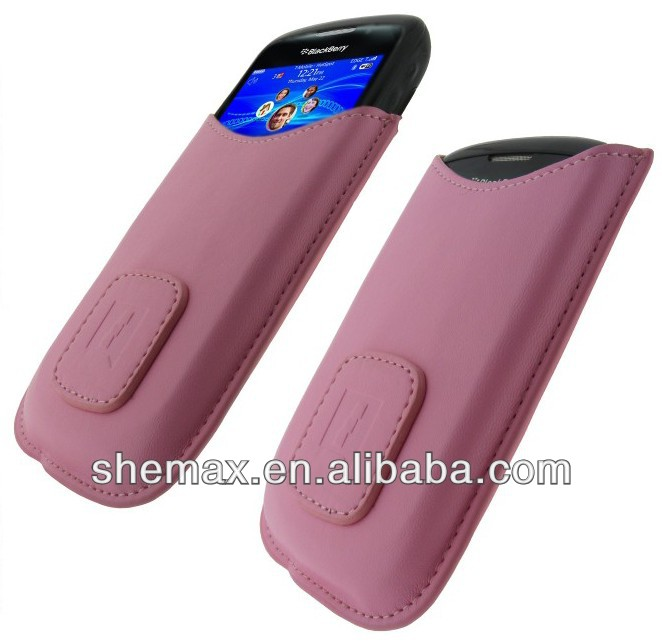 Pink PU Leather Case for BlackBerry Curve 8520 9300 3G Gemini Cover Holder