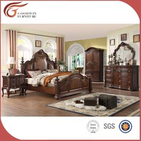 american style bedroom furniture wood beds WA153
