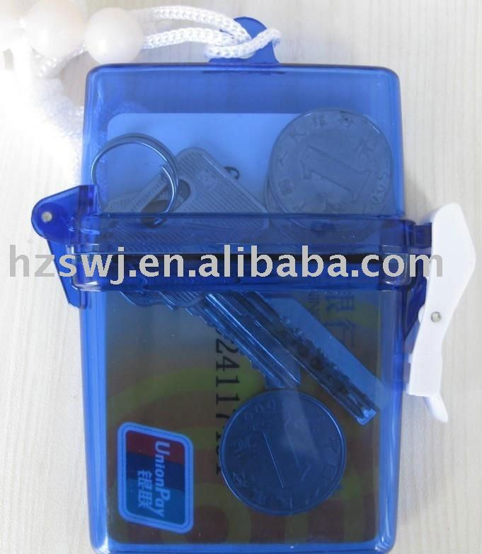 beach case/waterproof case/waterproof container/card container for beach
