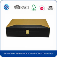 elegant PU wooden gift packaging box made in China