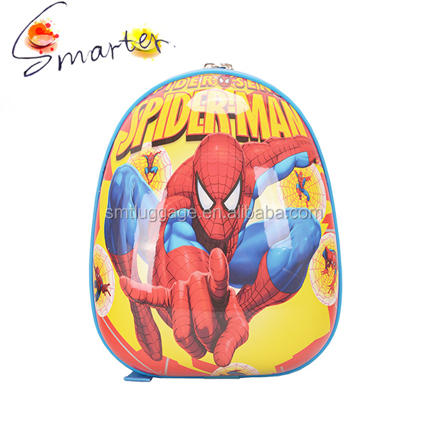2016 PC material with spiderman pattern kids school backpack