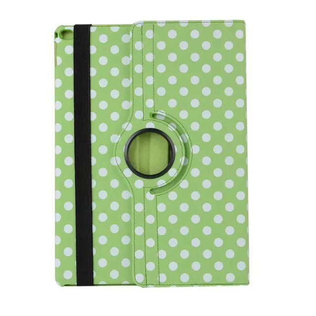 2017 Hot Selling Colorful Dots Rotating Leather Tablet Cover Flip Case Sleeve For Tablet PC