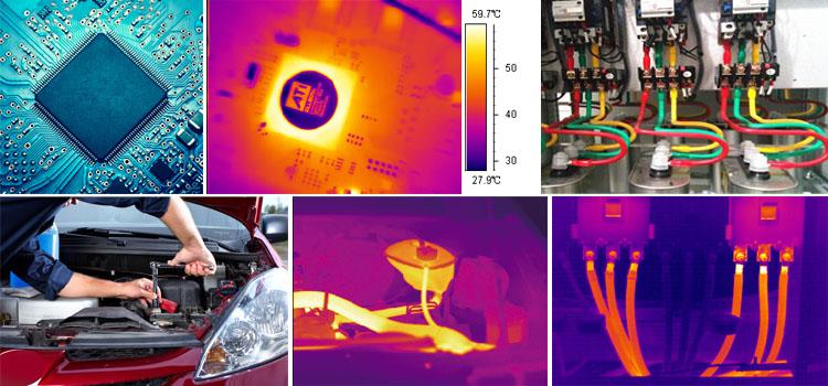 Chine fait pas cher caméra d'imagerie thermique utilisé dans les inspections électriques