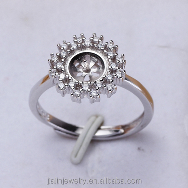 Wholesale Jewelry 925 Silver Semi Pearl Ring Mountings