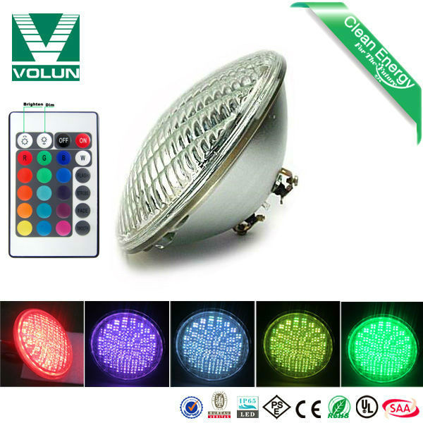 10M Remote Control RGB 12v par56 swimming pool led color changing lights