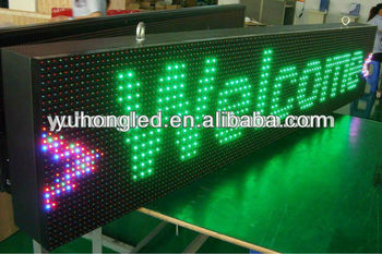 16x96 Pixels P20 full color moving sign with waterproof IP65 level