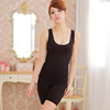 Women magic slimming body shaper girdle with black beige color