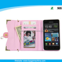 Smartphone Wallet card Leather phone case For samsung galaxy s2 9100
