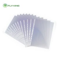 A4 clear sheet protector folder sheet office pockets 11 holes sheet protector