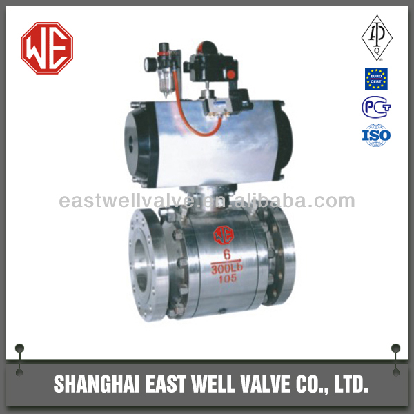 API standard stainless steel metal sealing floating ball valve