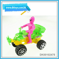 Plastic candy container pull back motorcycle toys