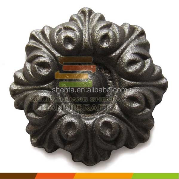 cast iron garden rosettes ornaments fence ornament