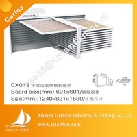 Double sided ceramic tiles showroom metal display rack stand -CF030
