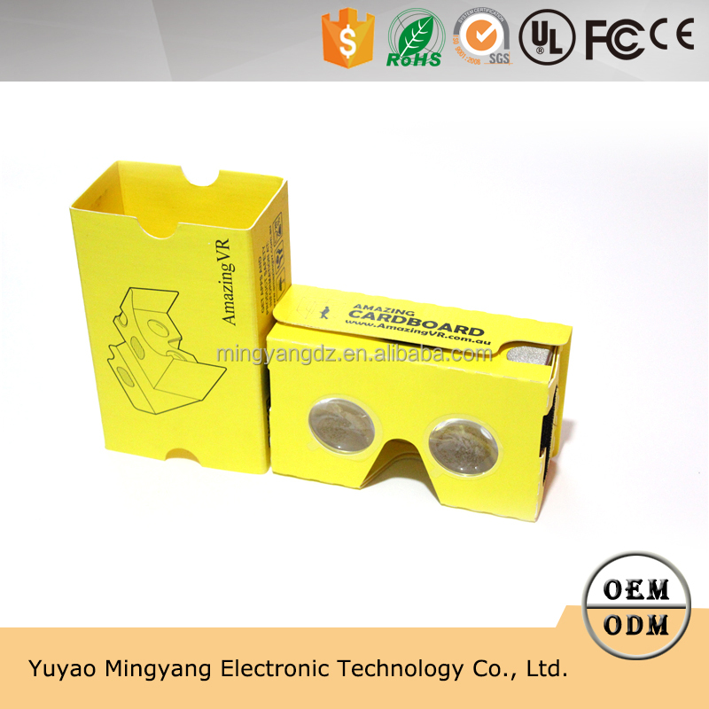 Personal design Google cardboard V2 android yellow