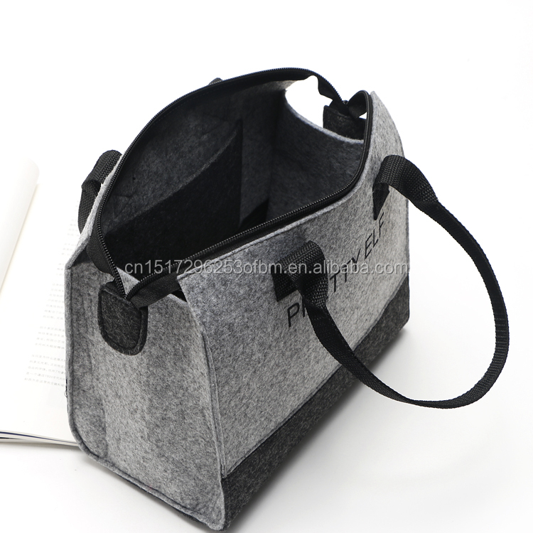 Design Brand New Shopping Bag and Simply eco-friendly Felt Material Women shoulder bag and promotional gift