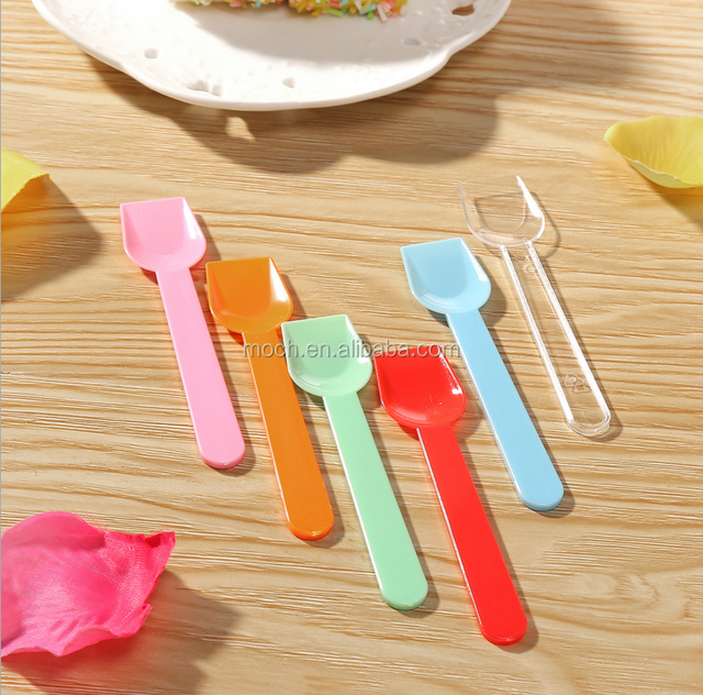 Colored Plastic Icecream Spoons,Biodegradable Small Cutlery