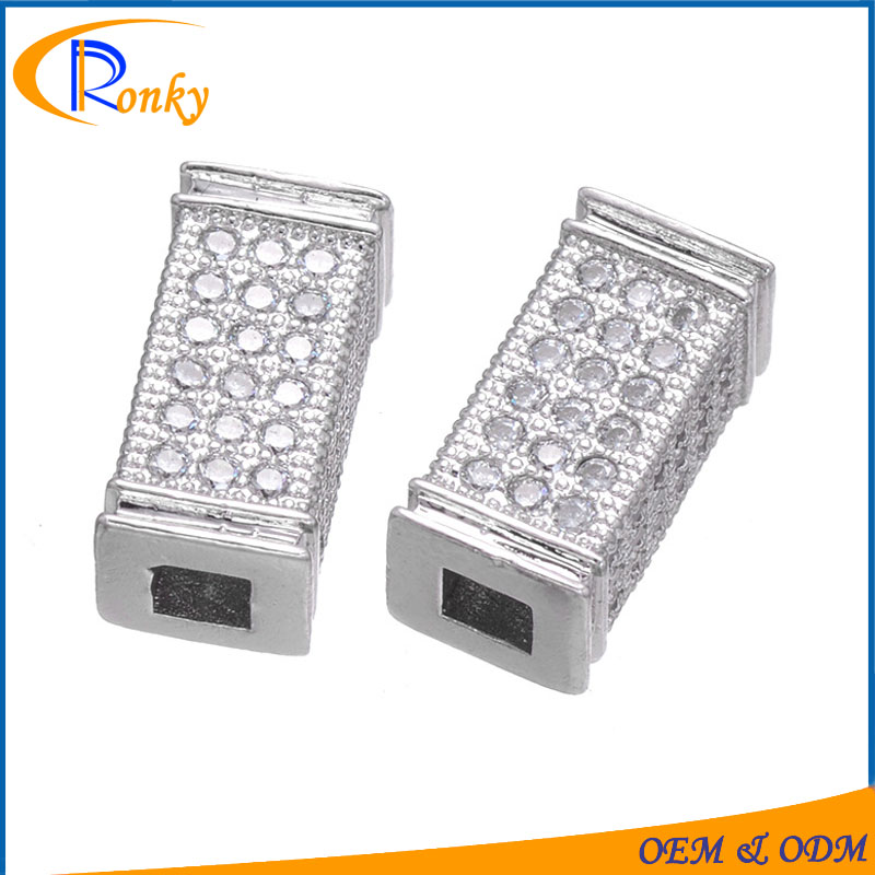 China product price list square gold jewelry design bracelet making parts