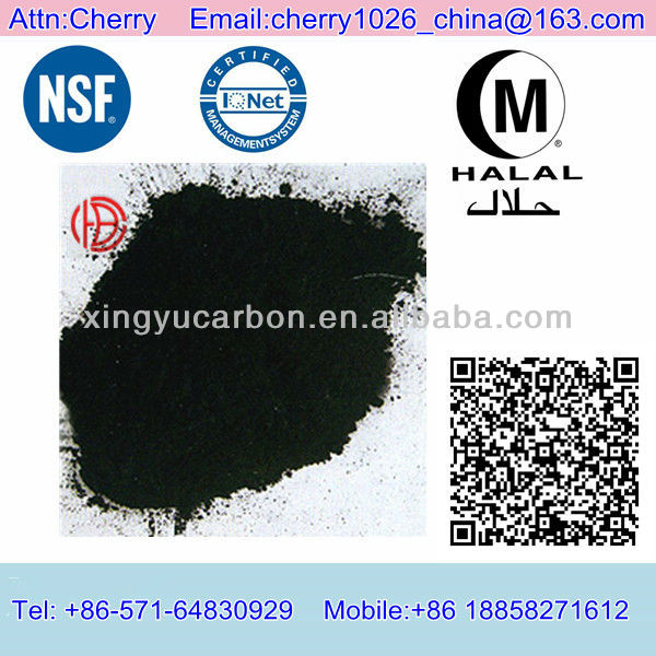 Black Wood Material Activated Charcoal for Syrup Product