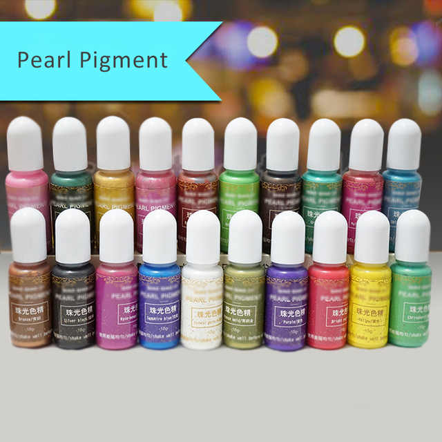20 Colors Epoxy UV Resin Dye Colorant Pearl Resin Pigment Mixed Color DIY Handmade Crafts Art Sets