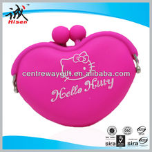 heart-shaped silicone coin bag