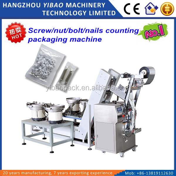 Automatic counting screws packaging machine