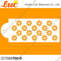 LCS021 garden flower small daisy theme airbrush stencil for cake side decorating