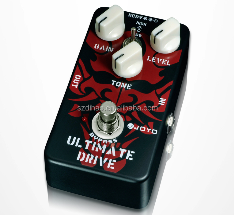 DIHAO JF-02 Ultimate Drive Overdrive Guitar Effect Pedal Black