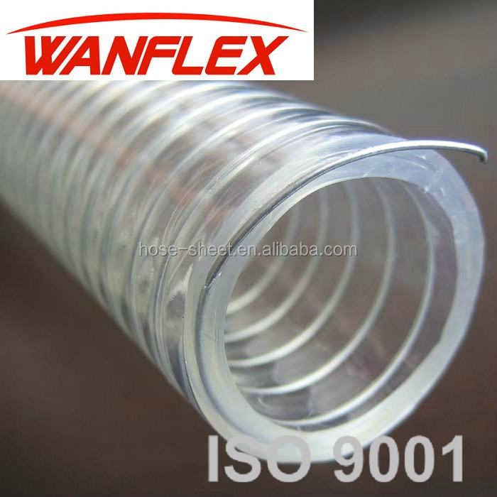 PVC/PU coated galvanized steel wire hose low price