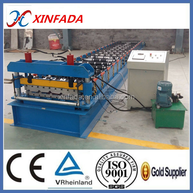 Building material metal cold roof board forming machine
