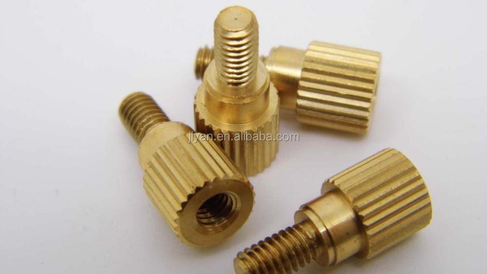 brass knurled blind threaded 6-32 nut insert for plastic and computer heatsink